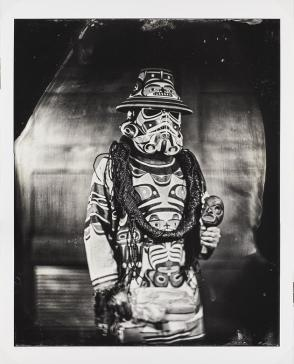 K'ómoks Imperial Stormtrooper (Andy Everson), Citizen of the K'ómoks First Nation, from the series Critical Indigenous Photographic Exchange: dᶻidᶻəlalič