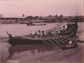 Burmese Paddy-Boat, #375A, From the Album Souvenir of Burmah, 1902, M.J. Heney