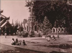 Holy Well, S.D. Pagoda,#399, From the Album Souvenir of Burmah, 1902, M.J. Heney
