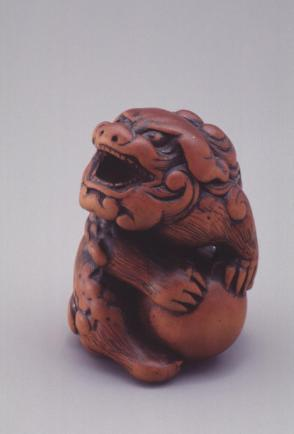 Model of a Seated Shishi with a Ball
