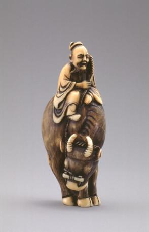 Model of Roshi Seated on a Water Buffalo