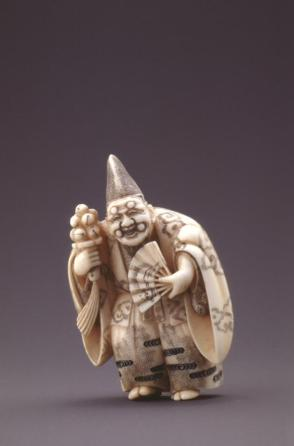 Model of a Sambaso Dancer Wearing Okina Mask