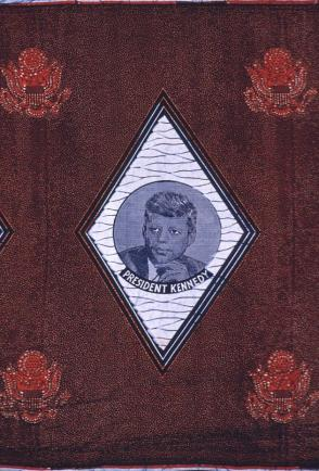 African-style commemorative cloth:  John F. Kennedy