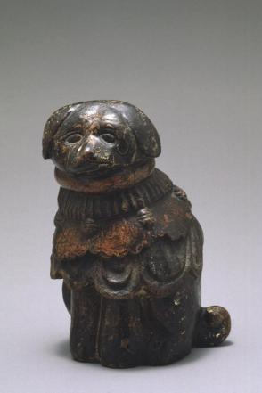 Dog, carved wood
