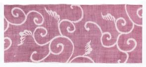 Stencil dyed fabric panel