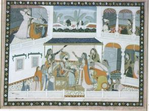 Emperor Ala-ud-din Khilji with Attendants in a Pavilion