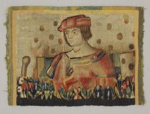 Tapestry Panel:  Half Figure of a Man