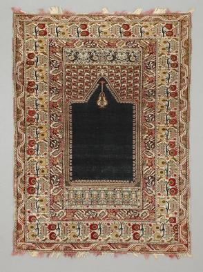 Ghiordes pattern prayer rug