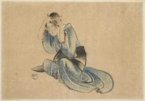 Seated Lady at her Toilette