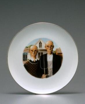 Look Alikes from the set of four dinner plates  American Gothic  & Results u2013 Search Objects u2013 eMuseum