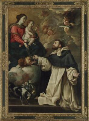 The Virgin Presenting the Rosary to Saint Dominic
