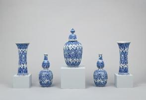 Garniture of five vases
