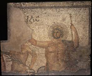 Mosaic from the House of Menander with Zeus