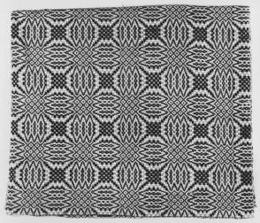 Coverlet:  double compass pattern