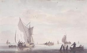 Seascape with Fishing Boats