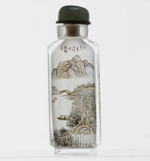 Inside-painted snuff bottle with landscape