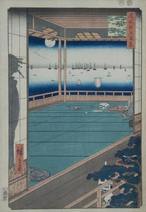 Moon Cape (Tsuki no misaki), from the series One Hundred Views of Famous Places in Edo (Meisho Edo hyakkei)