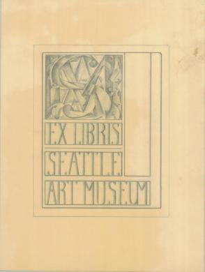Design for Seattle Art Museum Library Bookplate