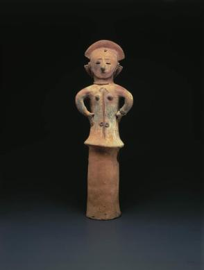 Haniwa woman; Burial figure