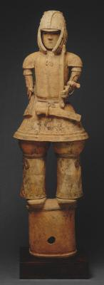 Haniwa warrior figure