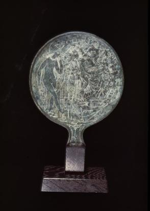 Mirror with scene of the Judgment of Paris