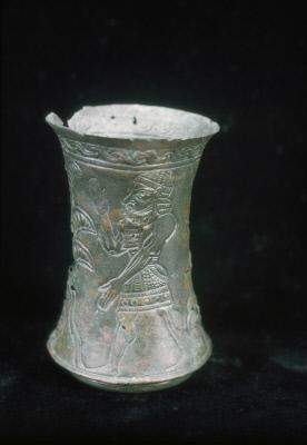 Beaker with palm tree and figures