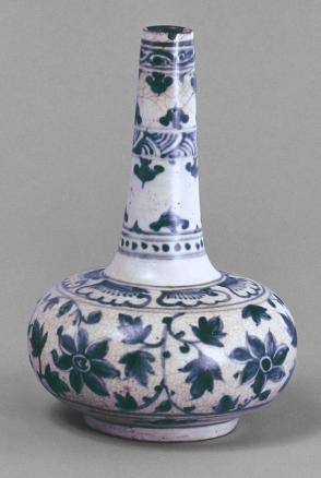 Vase with floral rinceau decoration