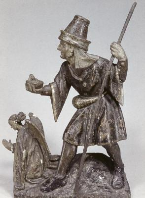 Shepherd and Kneeling Angel