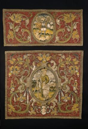 Embroidered Panel: St. Michael