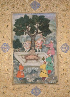 Three Mughal Princes Before a Guru