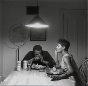 "Untitled (Playing harmonica) from the ""Kitchen Table"" series"