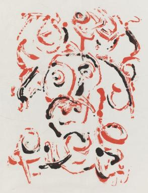 Untitled (Red and Black Head)