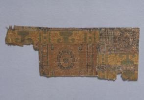 Textile fragment, Wheel of the Law