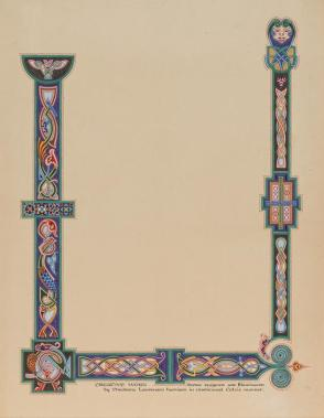 Illumination: Creative Work—Border Designed and Illuminated  . . . in Traditional Celtic Manner, from the series, Examples of Illumination and Heraldry, Federal Public Works of Art Project, Region #16, Washington State