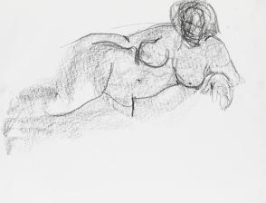 Sketchpad with figure studies [4 Female Nude Studies]