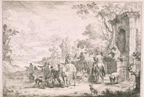 The Resting Sportsmen Near the Fountain of Neptune