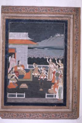 Dancers and Musicians Entertain a Princess