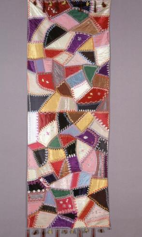 Piano Throw; Crazy Quilt